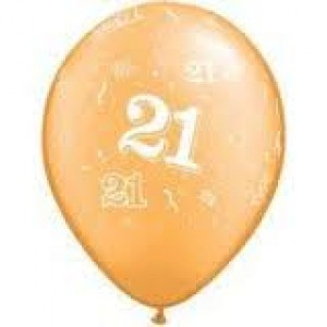 Balloons Gold 21st Birthday Balloon