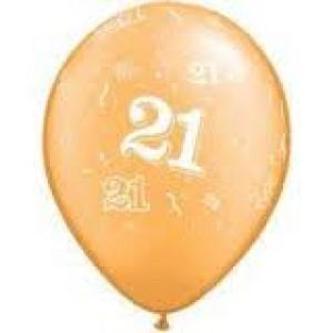 Balloons Gold 21st Birthday Balloon