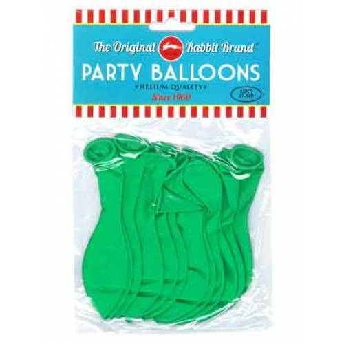 Party Balloons 12pk Green