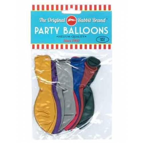 Party Balloons Metallic Assorted