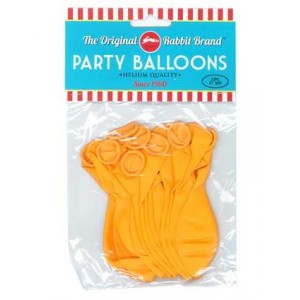 Party Balloons 12pk Orange