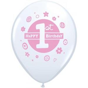 Balloons Pink 1st Birthday Balloon