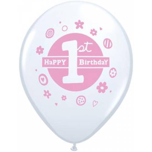 Balloons Pink 1st Birthday Balloon