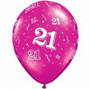 Balloons Pink 21st Birthday Balloon