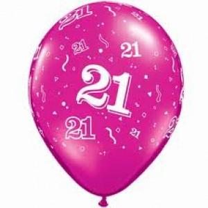 Balloons Pink 21st Birthday Balloon