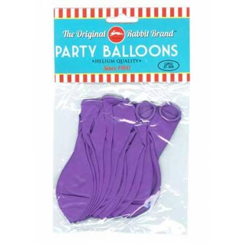 Party Balloons 12pk Purple
