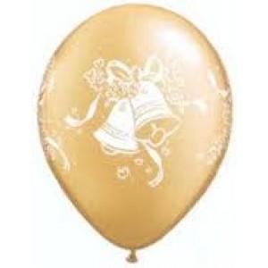 Balloons Wedding Bells Gold