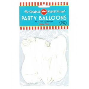 Party Balloons White