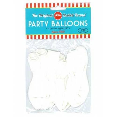 Party Balloons White