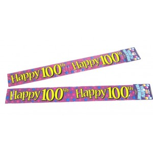 Banners 100th Birthday Banners
