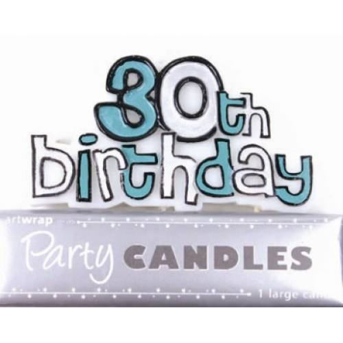 Birthday Candles 30th Birthday
