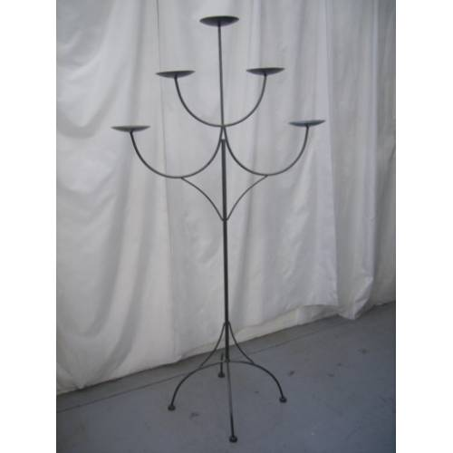 Candelabra 172cm, 5 Candle, Charcoal