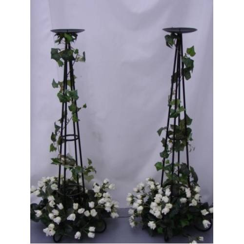 Candelabra, Decorated Rose, 90cm