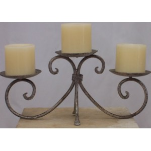 Candelabra 18cm, 3 Candle, Silver