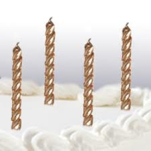 Candles Metallic Gold Party Supplies