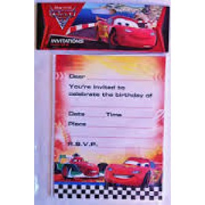 Cars Invitations Invites