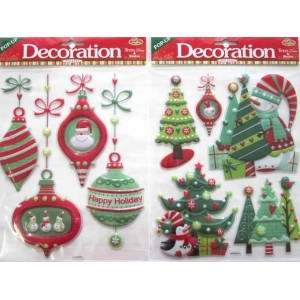 Christmas Window Stickers Foil Assorted
