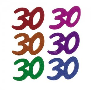 Confetti Scatters 30th Mix Numbers