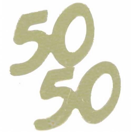 Confetti Scatters 50th Gold
