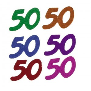 Confetti Scatters 50th Mix Numbers