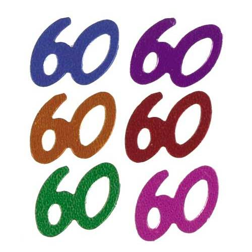 Confetti Scatters 60th Mix Numbers