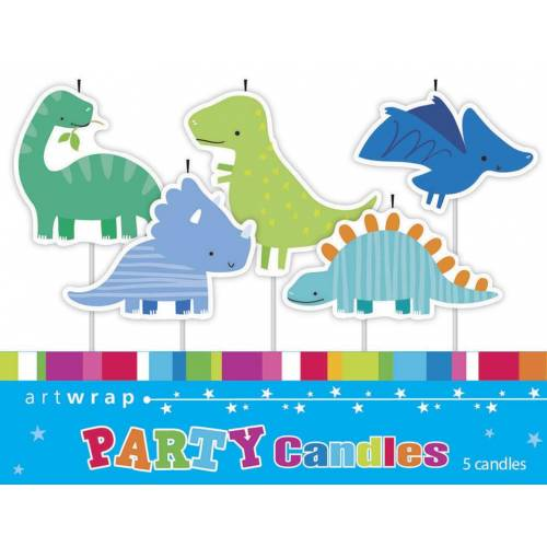 Candles Dinosaurs 5pk