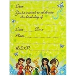 Disney Fairies Tinkerbell Invitations