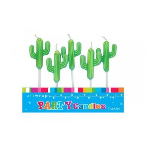 Candles Cactus 5pk