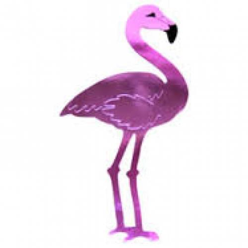 Flamingo foil cut out