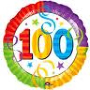 Foil Balloons 100th Birthday Foil Balloon