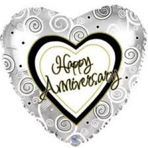 Foil Balloons Anniversary Foil Balloon