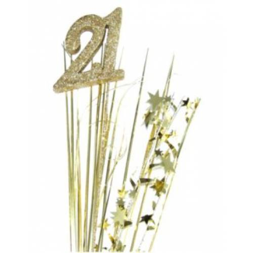 Foil Spangles 21st Gold