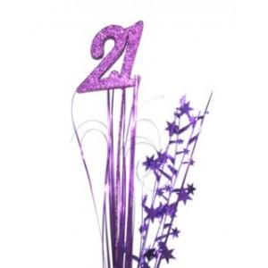 Foil Spangles 21st Purple