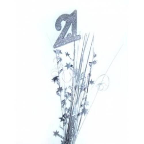 Foil Spangles 21st Silver