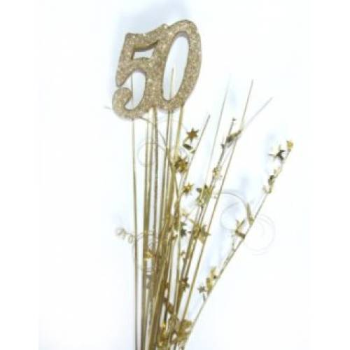 Foil Spangles 50th Gold
