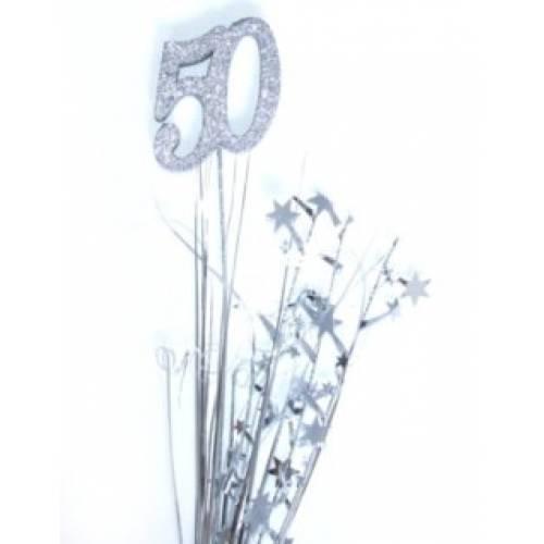 Foil Spangles 50th Silver