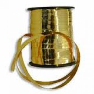 Gold Curling Balloon Ribbon