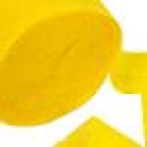 Hot Yellow Crepe Paper Streamer