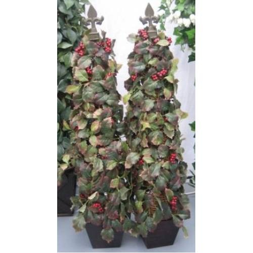 Ivy Pyramid Topiary Tree 3ft Berry