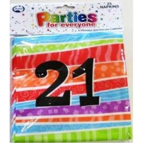 NAPKINS BIRTHDAY 21st