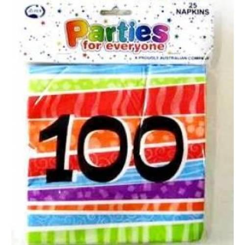 Napkins Birthday 100th