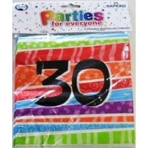 Napkins Birthday 30th