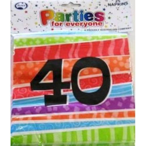 Napkins Birthday 40th