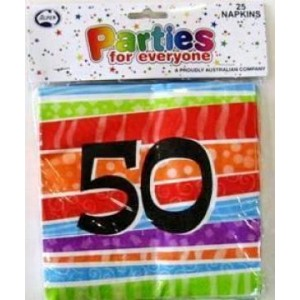 Napkins Birthday 50th