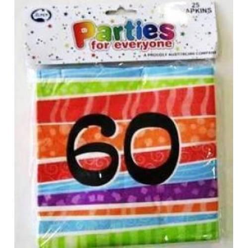 Napkins Birthday 60th