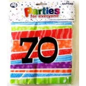 Napkins Birthday 70th