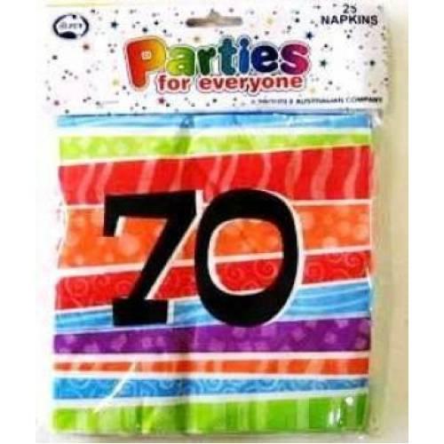 Napkins Birthday 70th