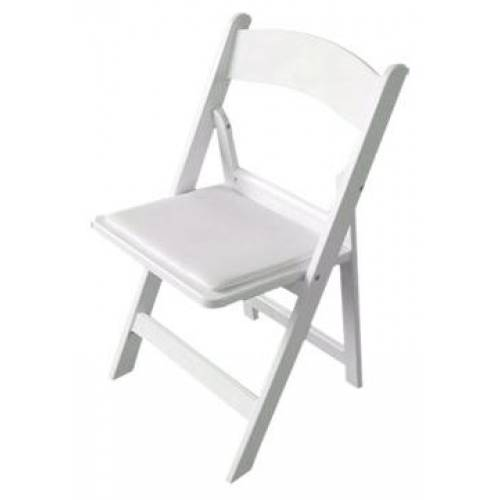 Chair Hire, Folding Padded White