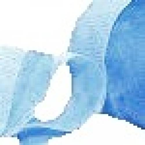 Pale Blue Crepe Paper Streamer