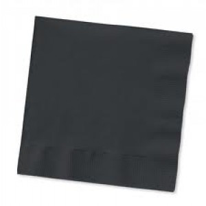 Paper Napkins Black